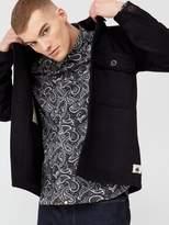 Pretty Green Onerous Wool Overshirt - Black