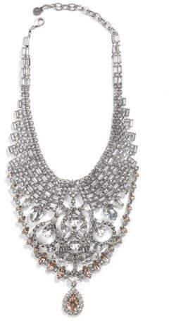 DYLANLEX Gambino Crystal Statement Necklace
