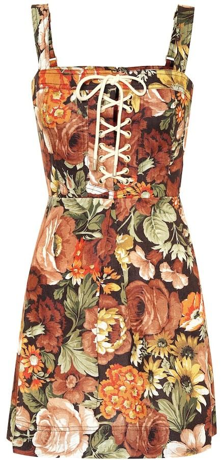 Zimmermann Bonita floral linen minidress