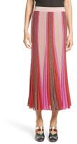 Missoni Women's Metallic Knit Colorblock Pleated Skirt