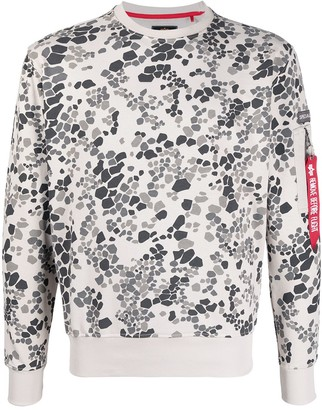 Alpha Industries Graphic-Print Crew-Neck Sweatshirt