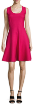 Christian Dior Raw Edge Sleeveless Fit And Flare Dress