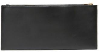 The Row Flat Rectangular Leather Clutch Bag - Womens - Black