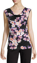 Liz Claiborne Sleeveless Cowl Neck T-Shirt
