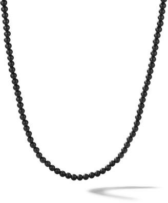 David Yurman Spiritual Beads Black Onyx Necklace