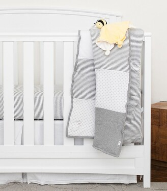 Burt's Bees Dottie Bee Grey Reversible Baby Quilt Made with Organic Cotton