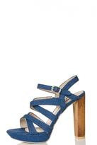 Quiz Denim Strap Platform Sandals