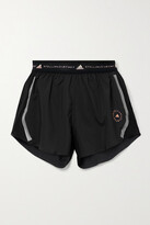 Thumbnail for your product : adidas by Stella McCartney Truepace Mesh-paneled Recycled Ripstop Shorts - Black