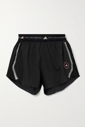 adidas by Stella McCartney Truepace Mesh-paneled Recycled Ripstop Shorts - Black