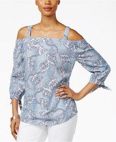 Thalia Sodi Printed Off-The-Shoulder Top, Only at Macy's