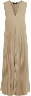 Joseph Enid Pleated Wool-blend Twill Midi Dress