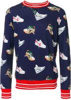 MSGM sneakers print sweatshirt