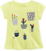 First Impressions Cotton Graphic-Print T-Shirt, Baby Girls (0-24 Months), Only At Macy's
