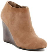 Restricted Wave Suede Wedge Bootie