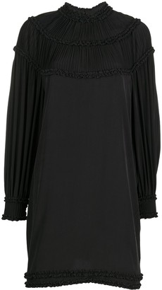 Fendi Pleated Shift Mini Dress