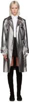 3.1 Phillip Lim Silver Metallic Trench Coat