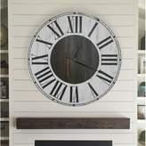 Darby Home Co Oversized Hosea Farmhouse Wall Clock