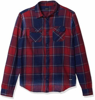 Buffalo David Bitton Men's Long Sleeve Button Down denimex Shirt