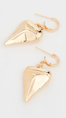 Venessa Arizaga Mini Shark's Tooth Earrings