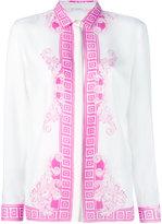 Versace arabesque print shirt - women - Silk - 46