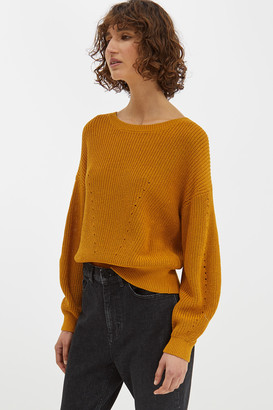 SABA Pip Pointelle Crop Knit