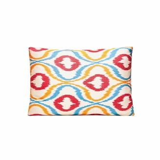 Heritage Geneve Colour Garden Handcrafted Silk Ikat Cushion