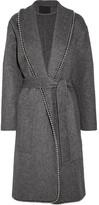 Alexander Wang Belted Embellished Felt Coat - Gray