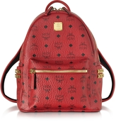 MCM Stark Ruby Red Small Backpack
