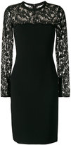 Stella McCartney lace fitted dress - women - Cotton/Polyamide/Spandex/Elastane/Viscose - 40