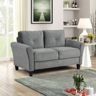 Winston Porter Morden Style Fabric Couch Furniture Upholstered Sofa And Loveseat