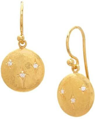 Gurhan Spell 22K Yellow Gold & Diamond Round Drop Earrings