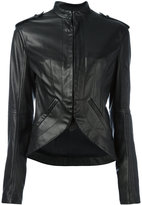 Haider Ackermann military-style leather jacket