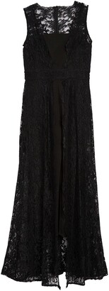 Marina Cropped Lace Overlay Jumpsuit