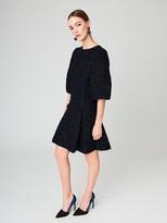 Oscar de la Renta Ribbon Tweed A-Line Dress