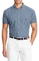 Polo Ralph Lauren Big & Tall Indigo Oxford Plaid Short-Sleeve Woven Shirt