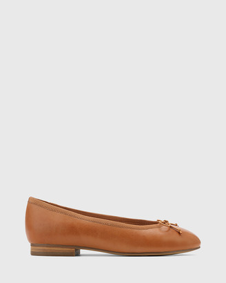 Wittner - Women's Brown Flats - Aroma Leather Ballet Flats - Size One Size, 36 at The Iconic