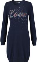 Love Moschino Embellished stretch-knit mini dress