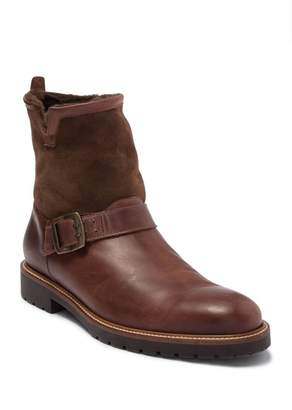 Ross & Snow Federico Leather Genuine Shearling Motor Boot