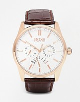 HUGO BOSS BOSS By Chronograph Leather Strap Watch 1513125