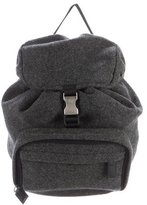 Prada Leather-Trimmed Wool Backpack