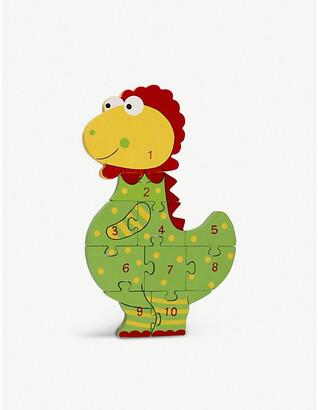 Selfridges Dinosaur Number Puzzle wooden dinosaur jigsaw puzzle 36cm