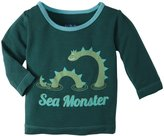 Kickee Pants Piece Print Tee (Baby) - Seaweed Sea Monster-3-6 Months