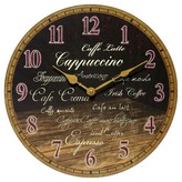 Infinity Instruments Morning Brew Decorative Clock - Brown