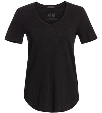 ATM Anthony Thomas Melillo Cotton Slub V-Neck Tee