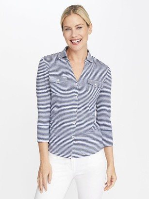 J.Mclaughlin Brynn Linen Shirt in Stripe