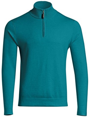 Saks Fifth Avenue COLLECTION Silk-Blend Quarter-Zip Sweater