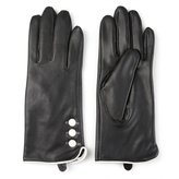 Journee Collection Women's Leather Lined Button Gloves