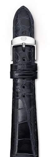 Michele 20mm Alligator Strap, Navy