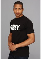 Obey Font Basic Tee