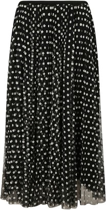 RED Valentino Long Floral Motif Skirt